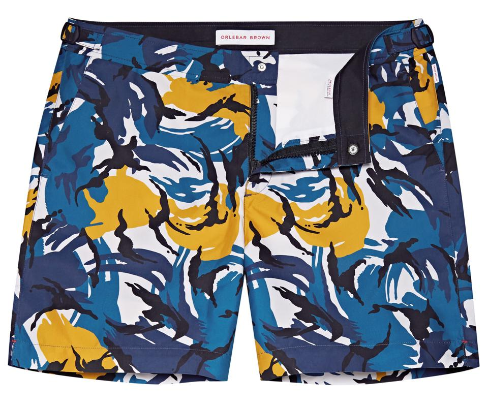 Bulldog Lake Blue/Marina Mid-Length Swim Shorts