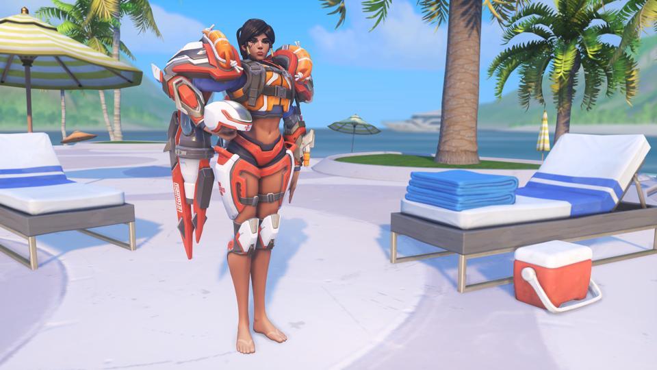 Overwatch Summer Games Lifeguard Pharah skin