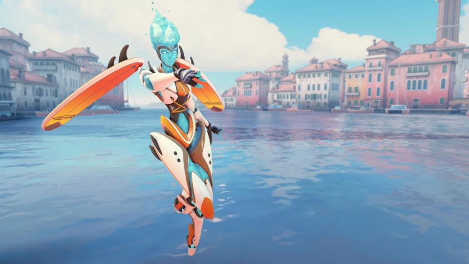Overwatch Summer Games Surf's Up Echo skin