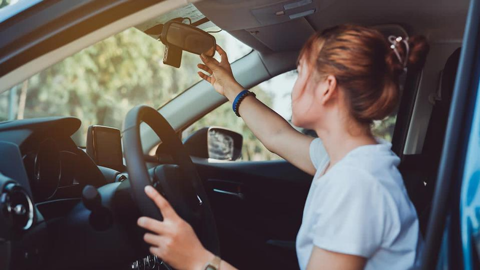 Teen behind the wheel.