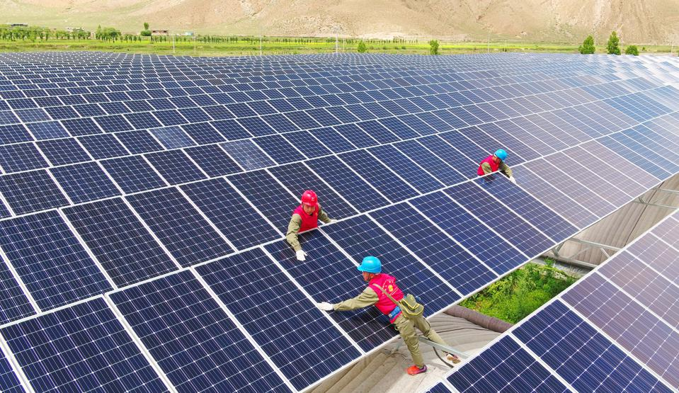 Photovoltaic Power Station In Tibet