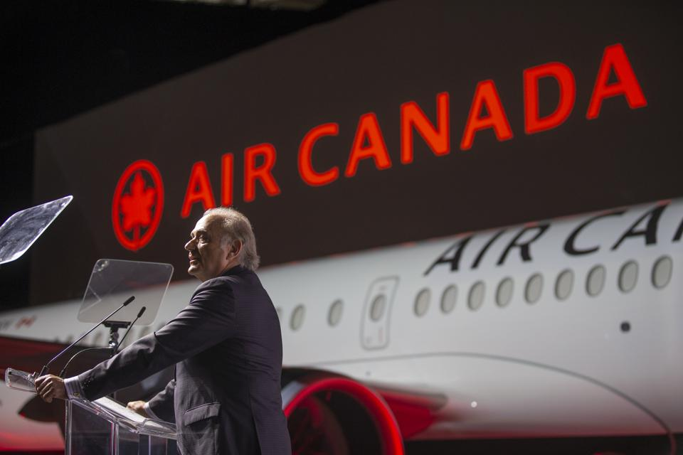 Calin Rovinescu, president and chief executive officer of Air Canada