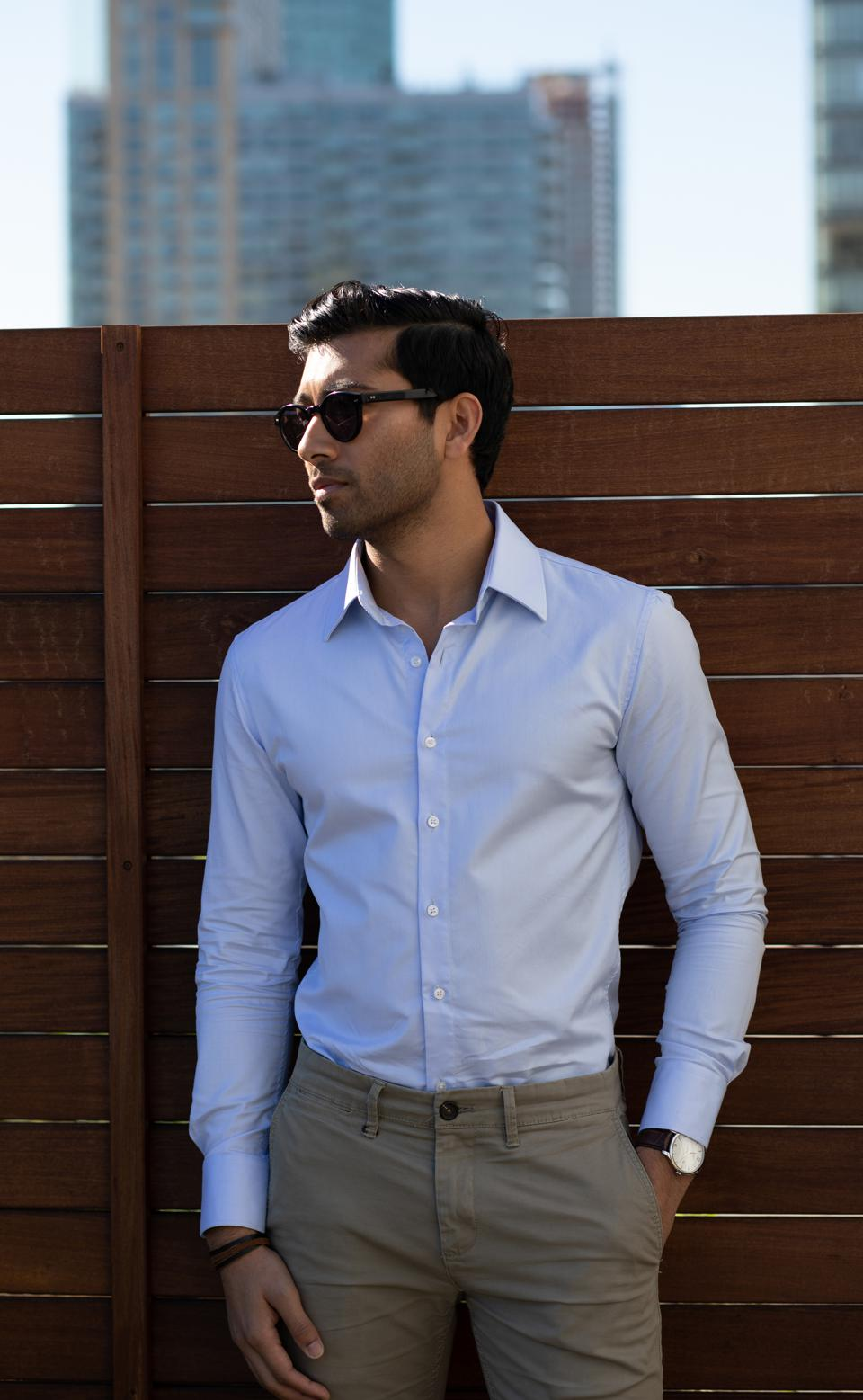 The Waterbend Blue Dress Shirt in Actually Slim Fit