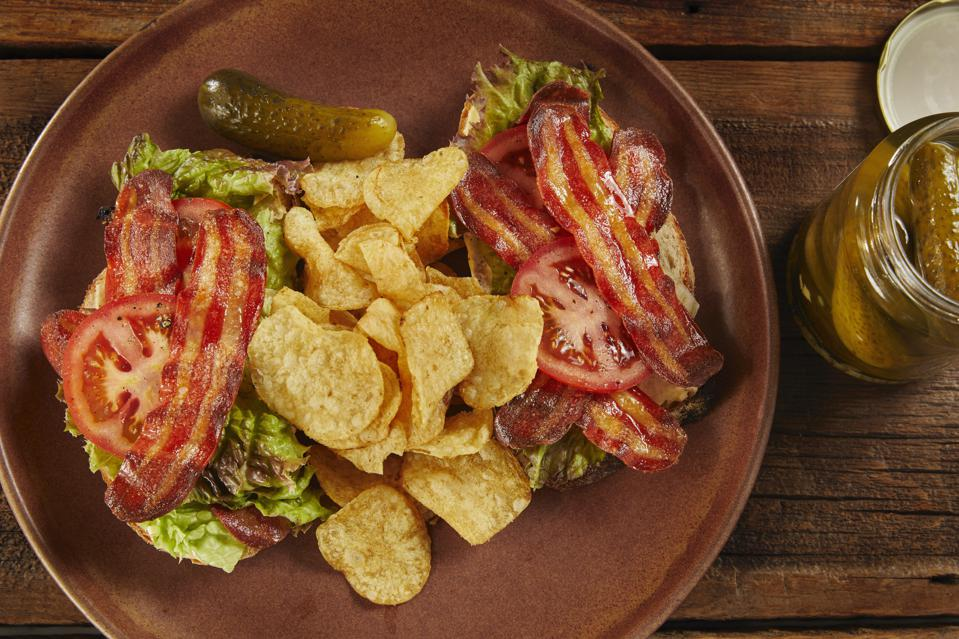Cultured bacon BLT made with lab-grown bacon