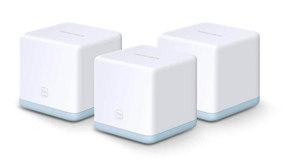 Three Mercursys Halo S12 mesh networking access points