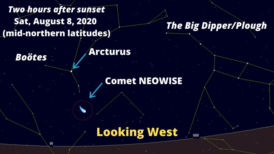 How to see Comet NEOWISE on August 8, 2020.