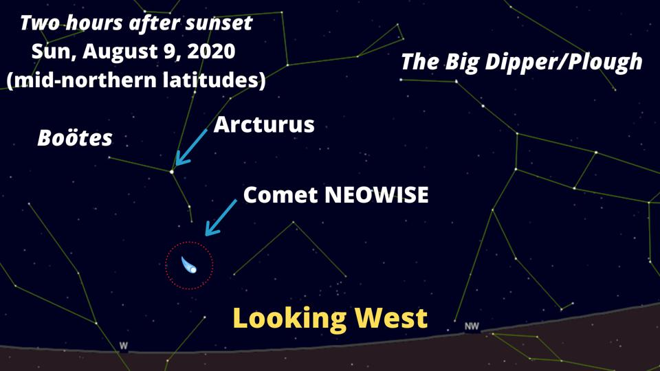 How to see Comet NEOWISE on August 9, 2020.