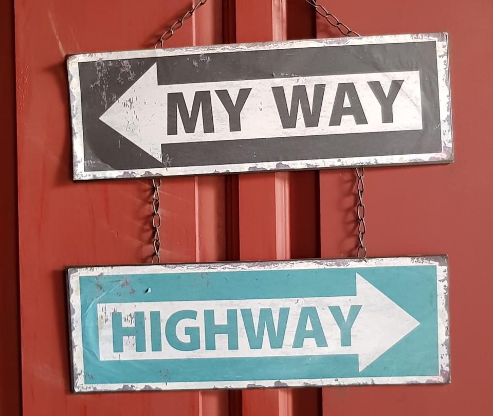 My way or the highway. Pivoting marketing due to COVID.