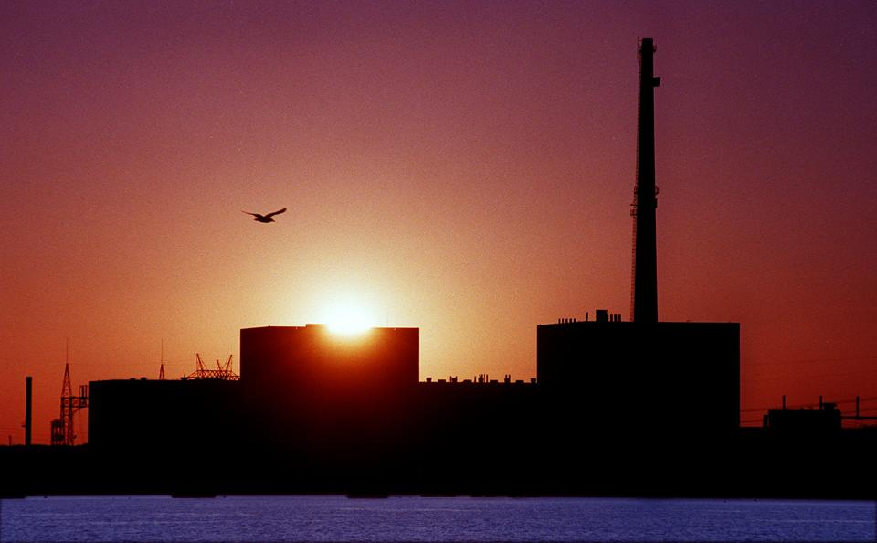 Sunset Over Millstone Nuclear Power Plant