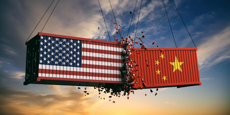 Competition between the US and China.
