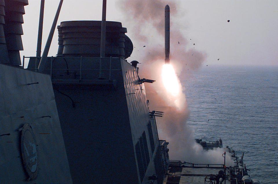 Tomahawk cruise missile launched at Iraq in 1996.