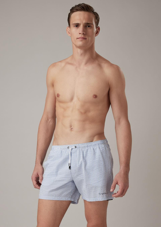 Giorgio Armani Seersucker Beachwear Boxers