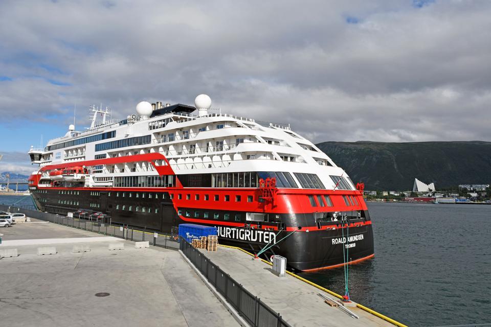 The Hurtigruten vessel MS Roald Amundsen