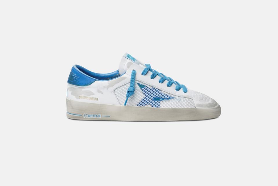 Golden Goose 'White and Light Blue Stardan sneakers'