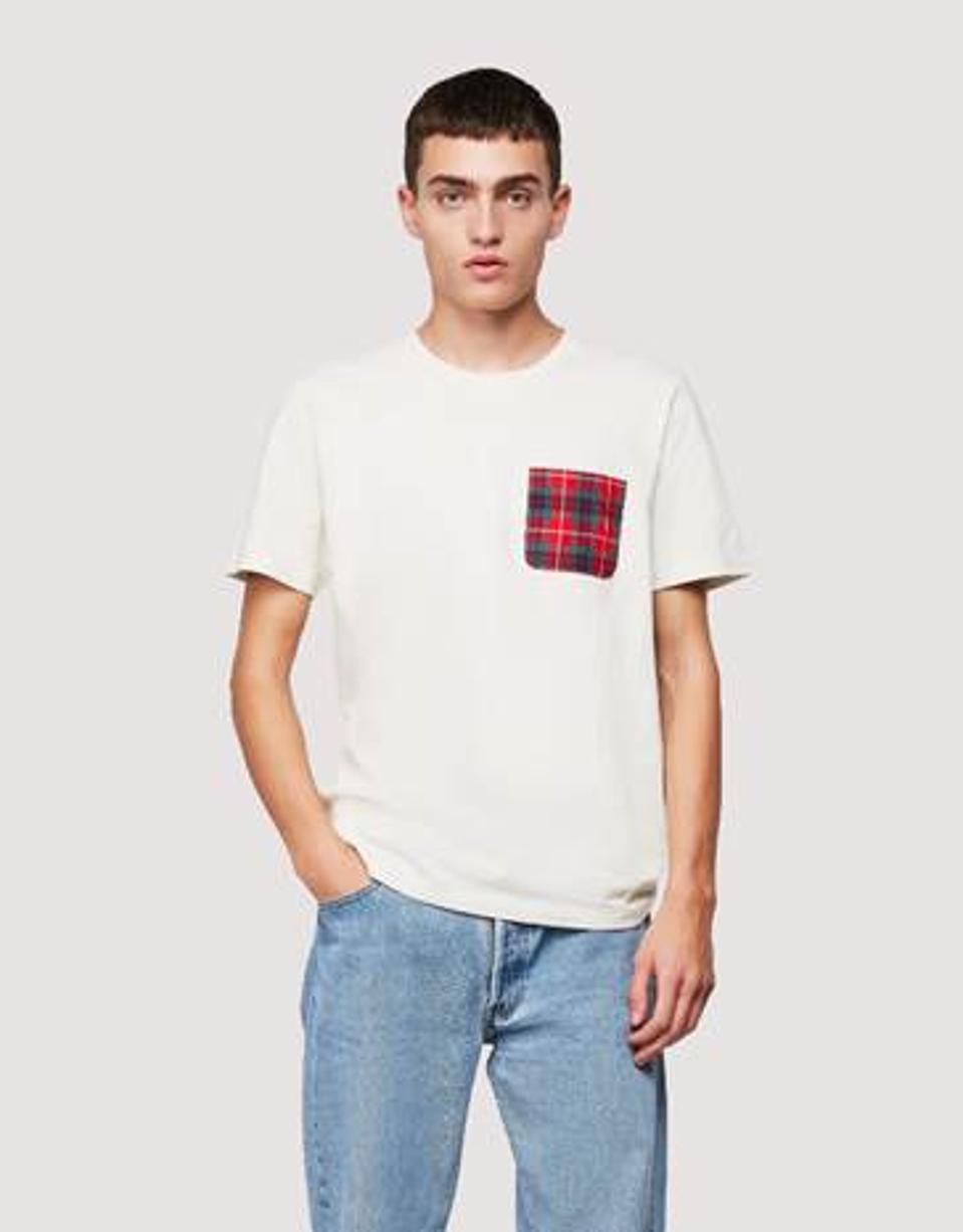 Baracuta Fraser Tartan Pocket T-Shirt