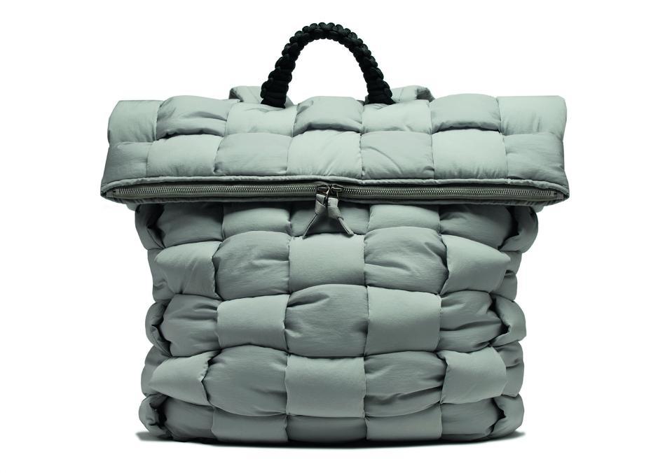 Bottega Veneta:Fold-top padded backpack in nylon