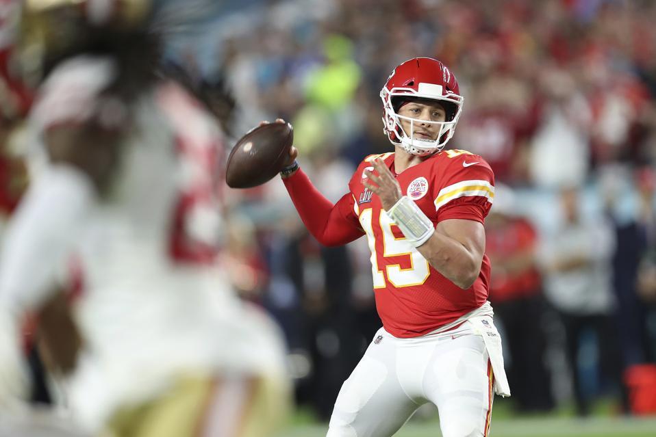 Patrick Mahomes NFL quarterback Kansas City Chiefs