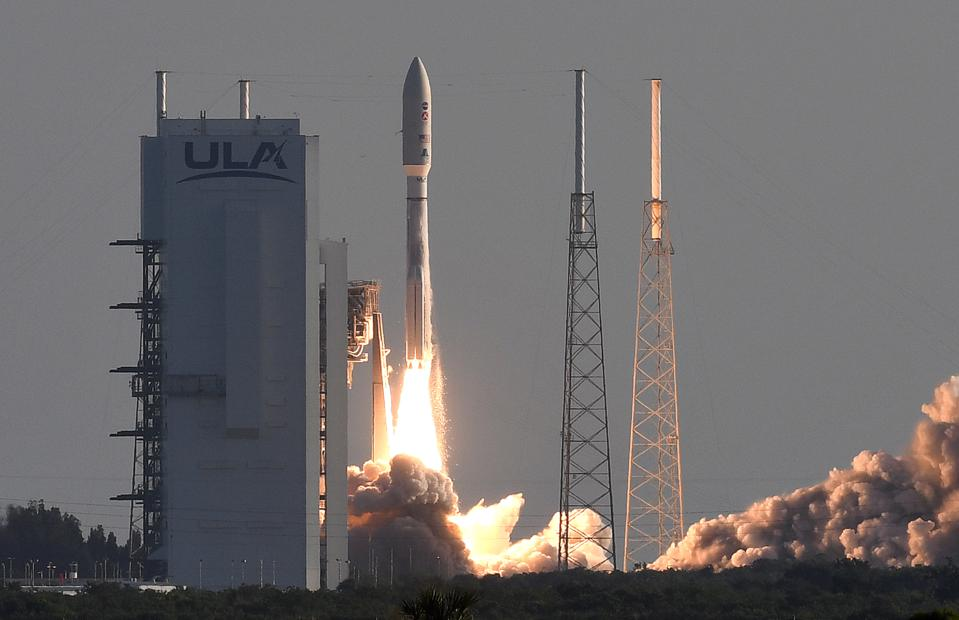 An Atlas V rocket with NASA's Perseverance Mars rover launches on July 30, 2020.