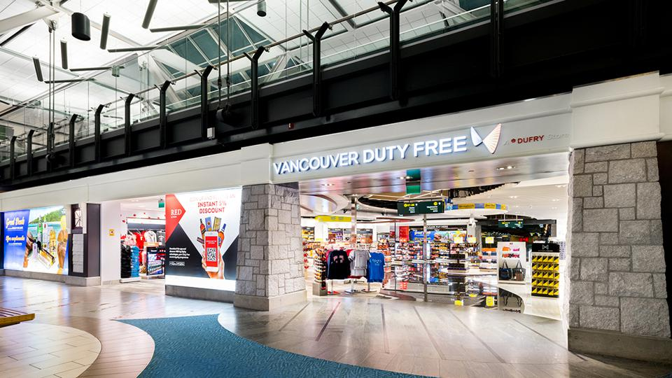 Vancouver Duty Free store front