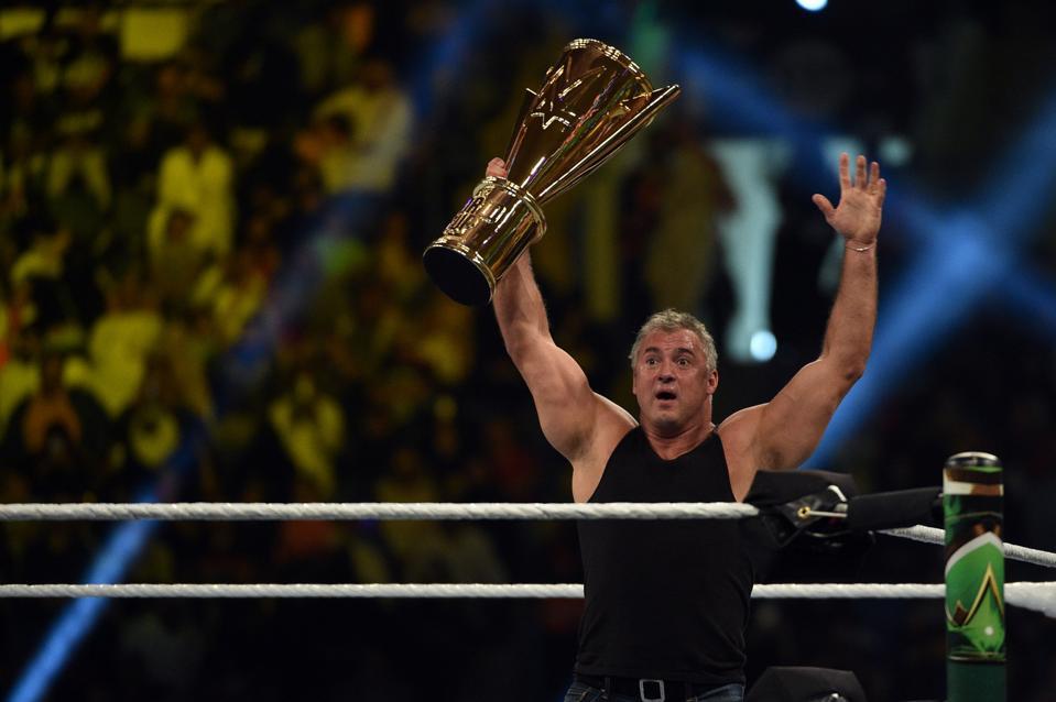 WWE's Shane McMahon celebrates