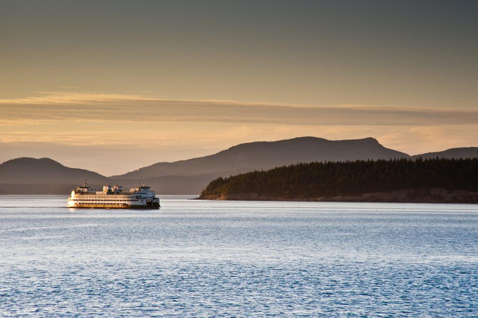 Washington State Ferry in Puget Sound