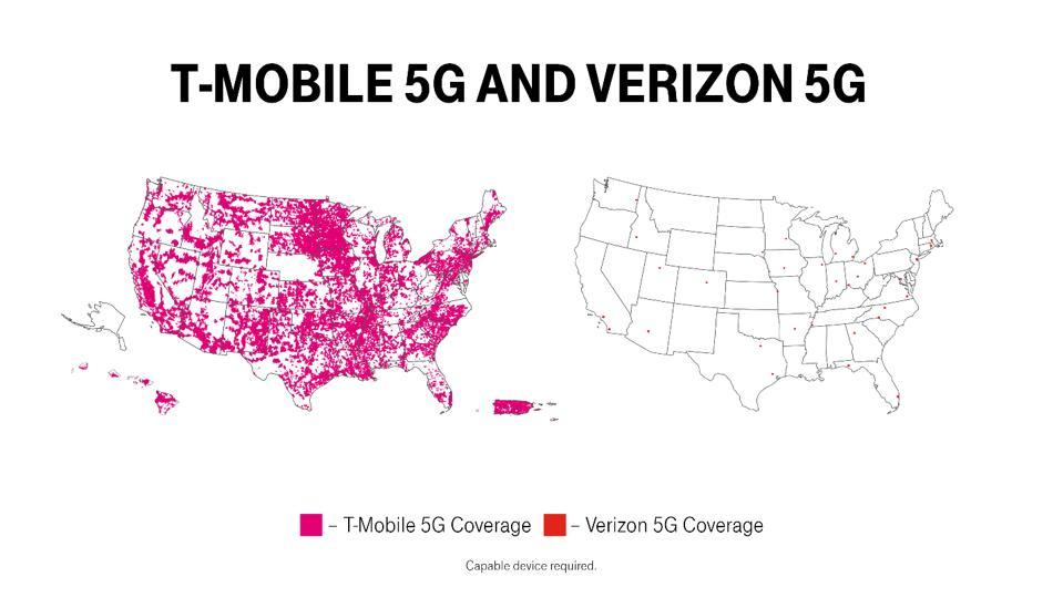 T-Mobile 5G and Verizon 5G
