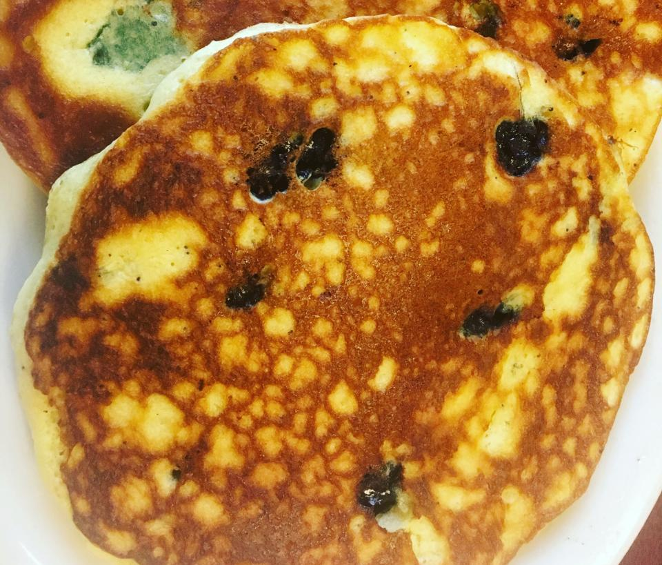 Blueberry pancakes at Nick's