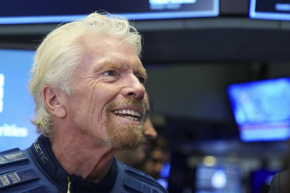 Sir Richard Branson on the New York Stock Exchange (NYSE)