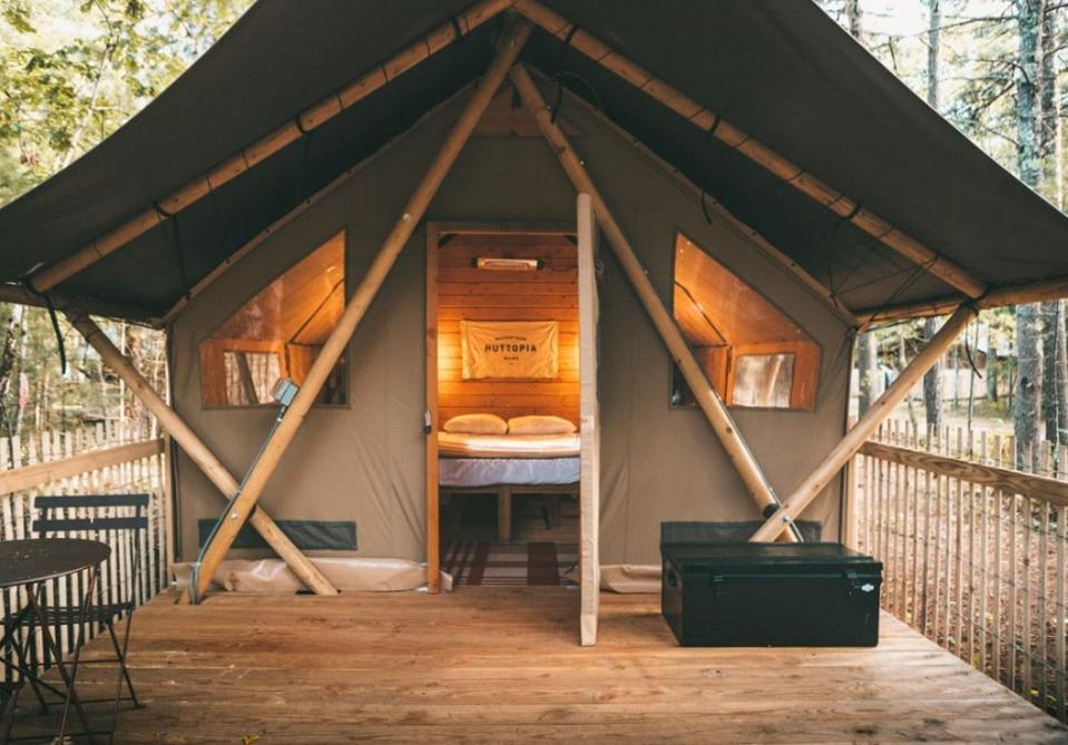 Huttopia glamping tent