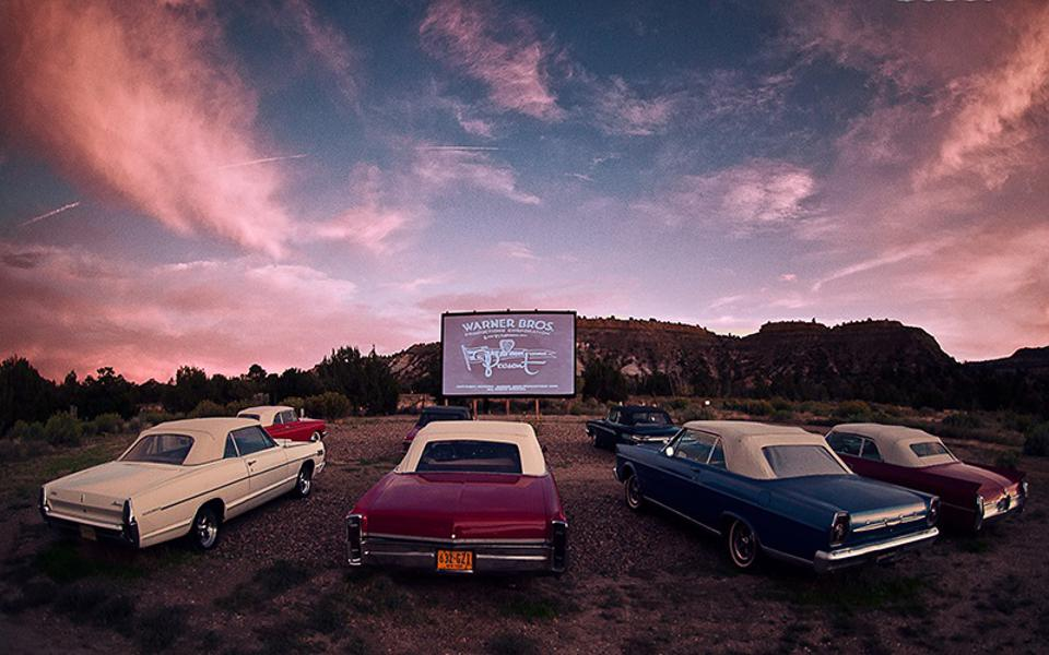 Drive in movies and glamping