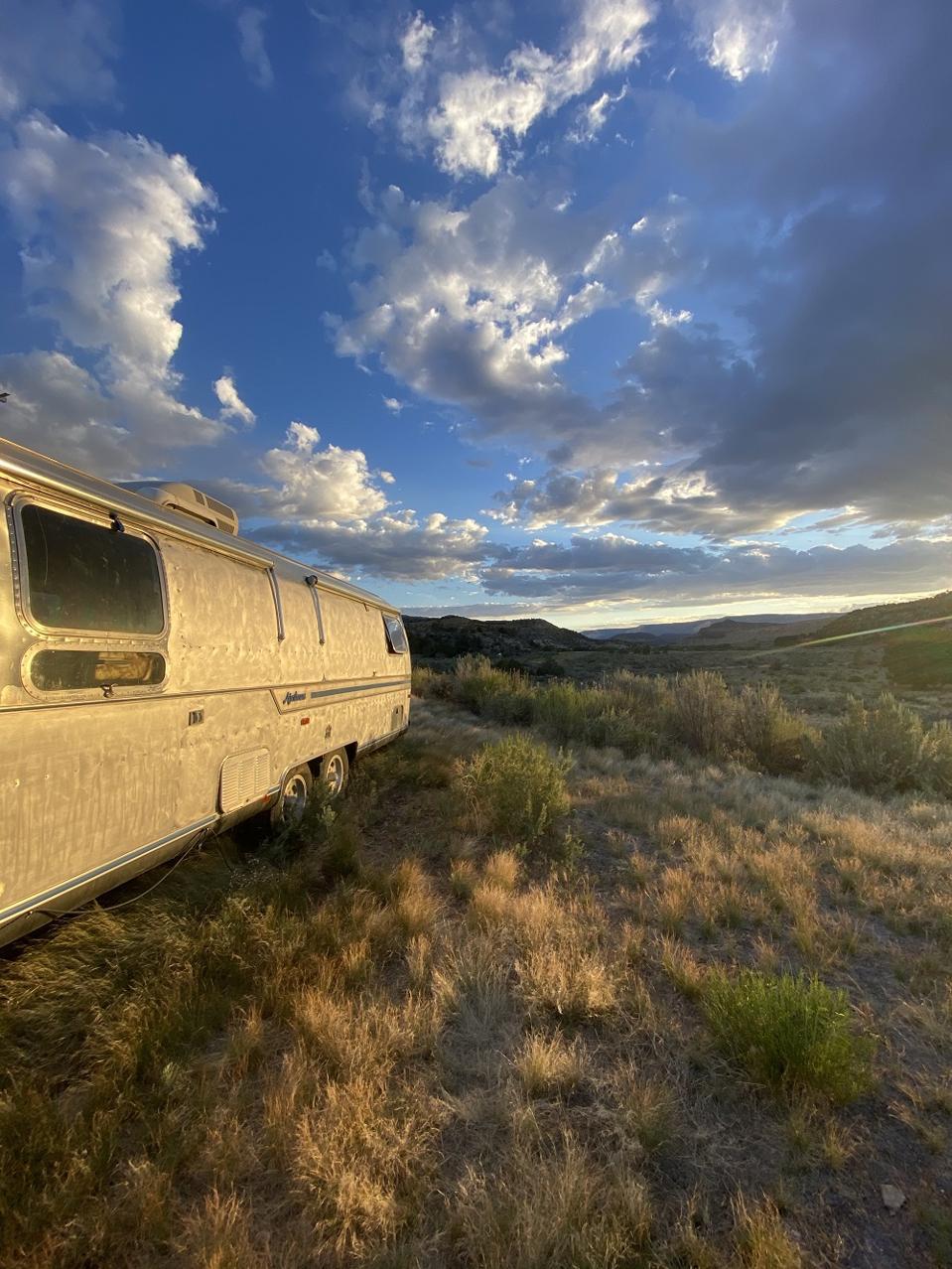 Airstream trailer glamping at Yonder resort in Utah