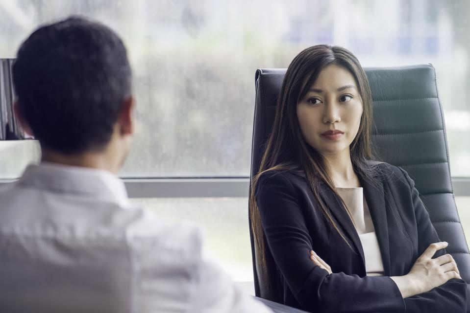 Businesswoman meeting with associate