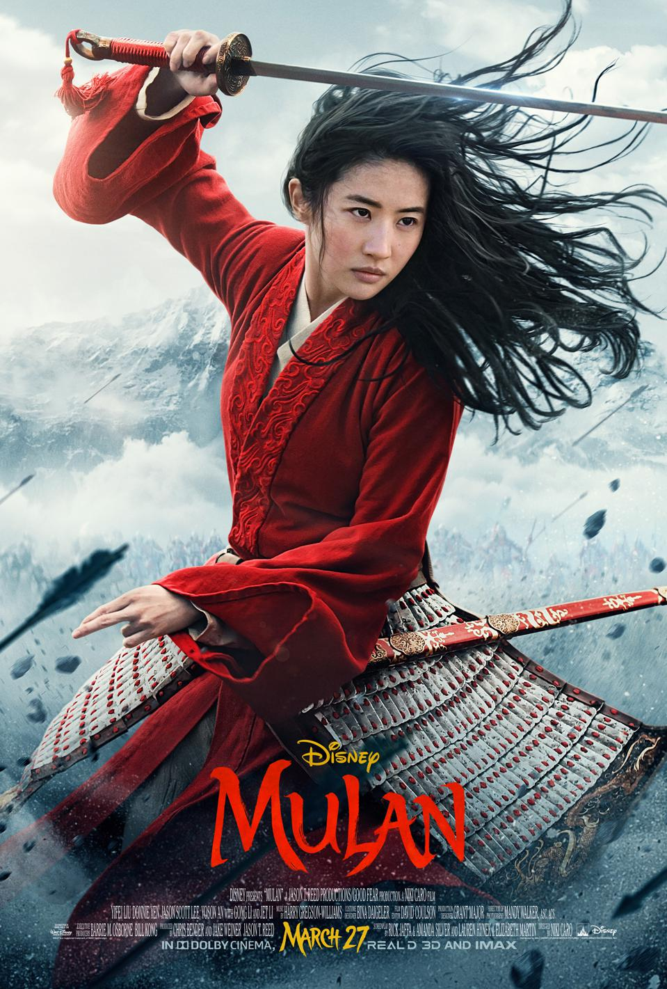 Official poster for ″Mulan″