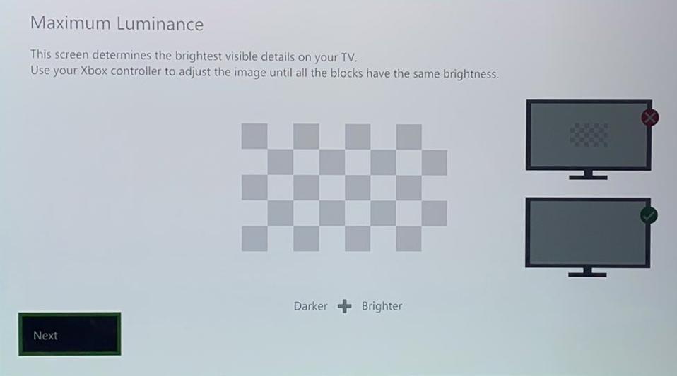 Xbox HDR Calibration