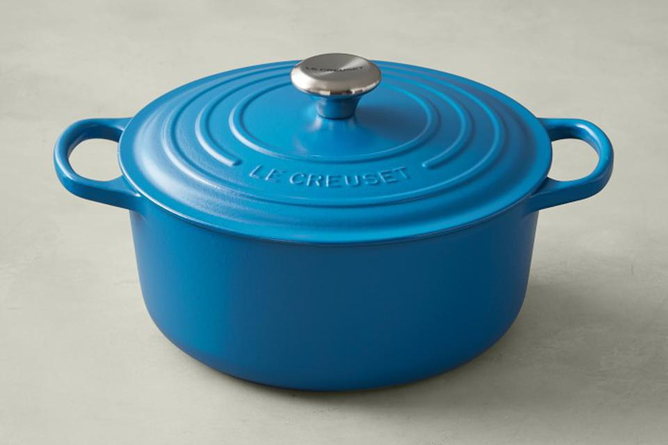 Le Creuset Dutch oven in Marseille blue