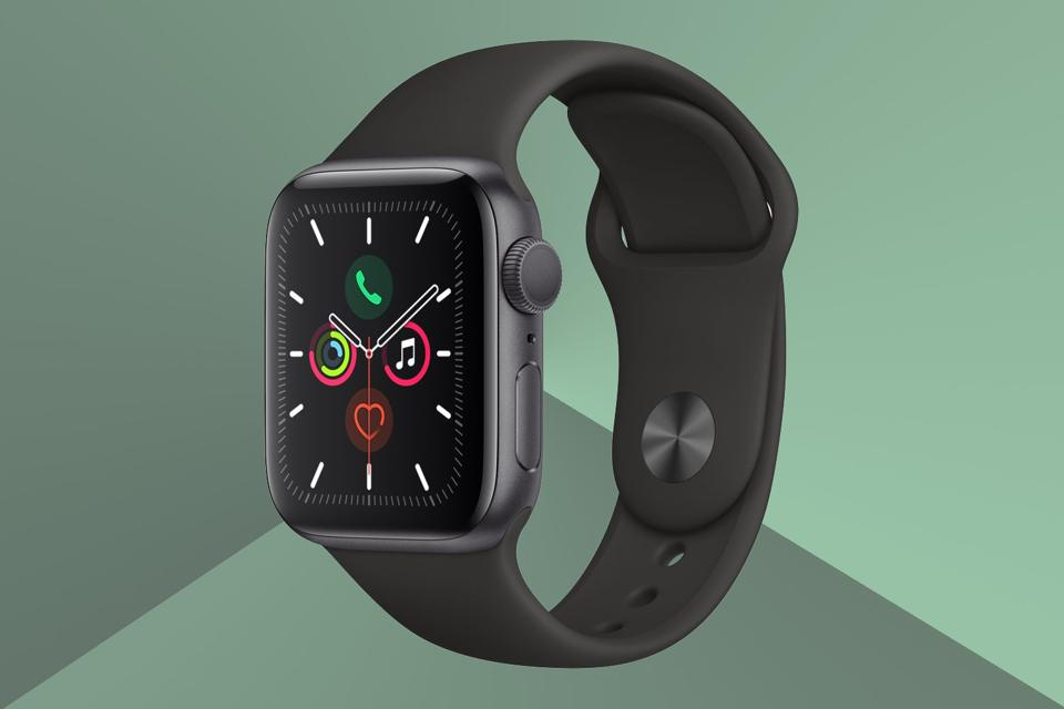 A render of the Apple Watch.
