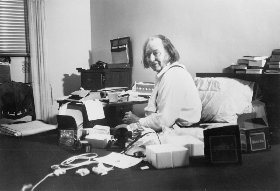 Madman L. Ron Hubbard, founder of Scientology, in New York City in 1982.