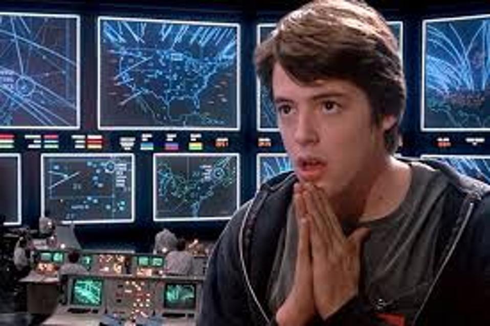Aktor Matthew Broderick memainkan peran David Lightman dalam film WarGames (1983).
