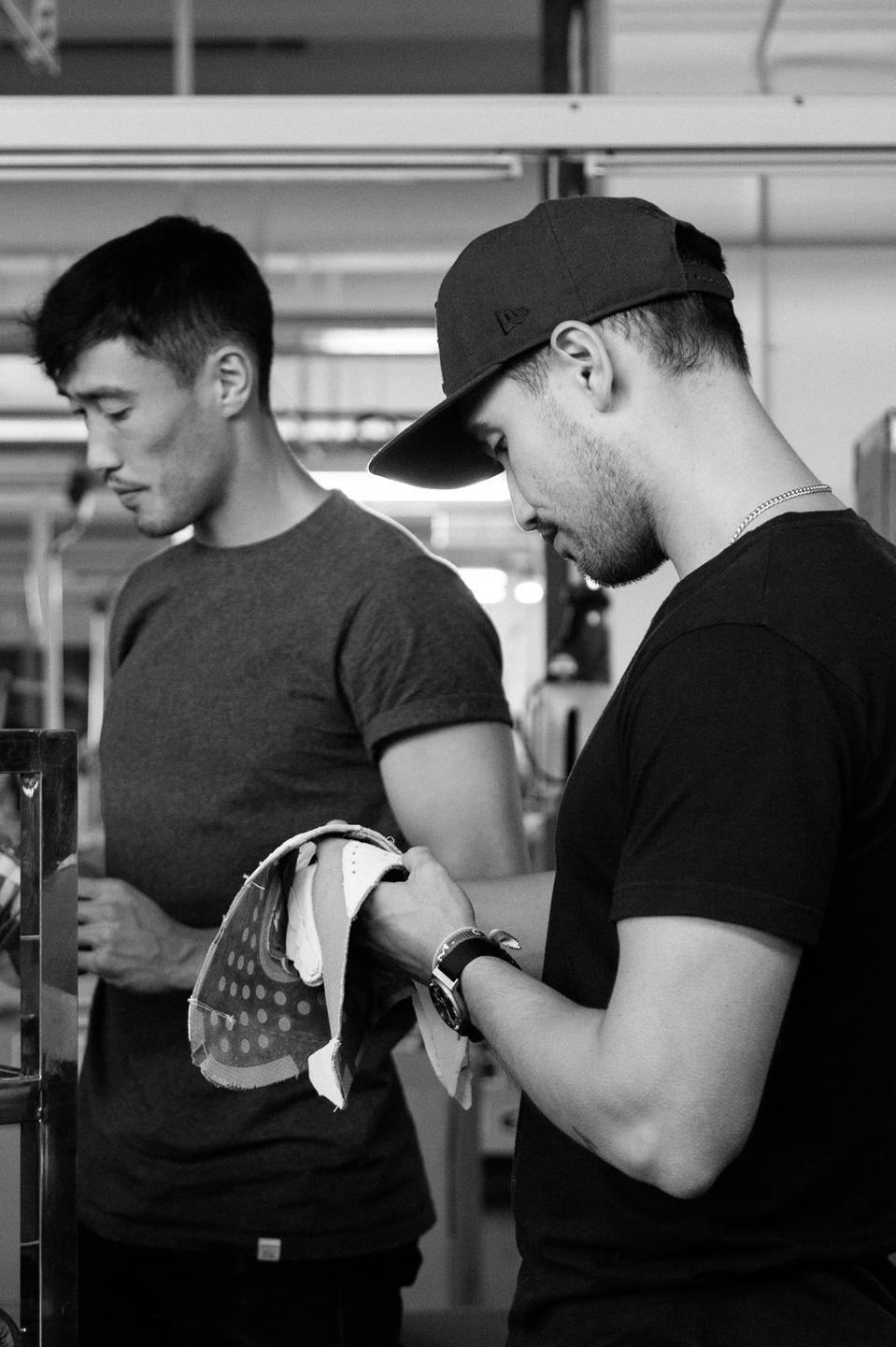 Brothers Josh (L) and James (R) Shorrock co-founded Lane Eight, heralding from Adidas and Hypebeast backgrounds.