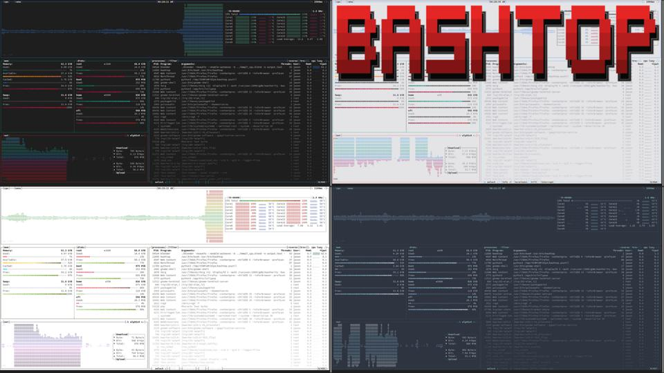 Bashtop is a beautiful resource monitor app for your terminal, and it runs in Linux, macOS or FreeBSD.