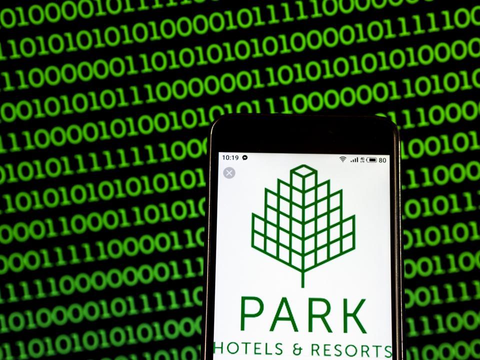Park Hotels & Resorts Real estate company logo seen
