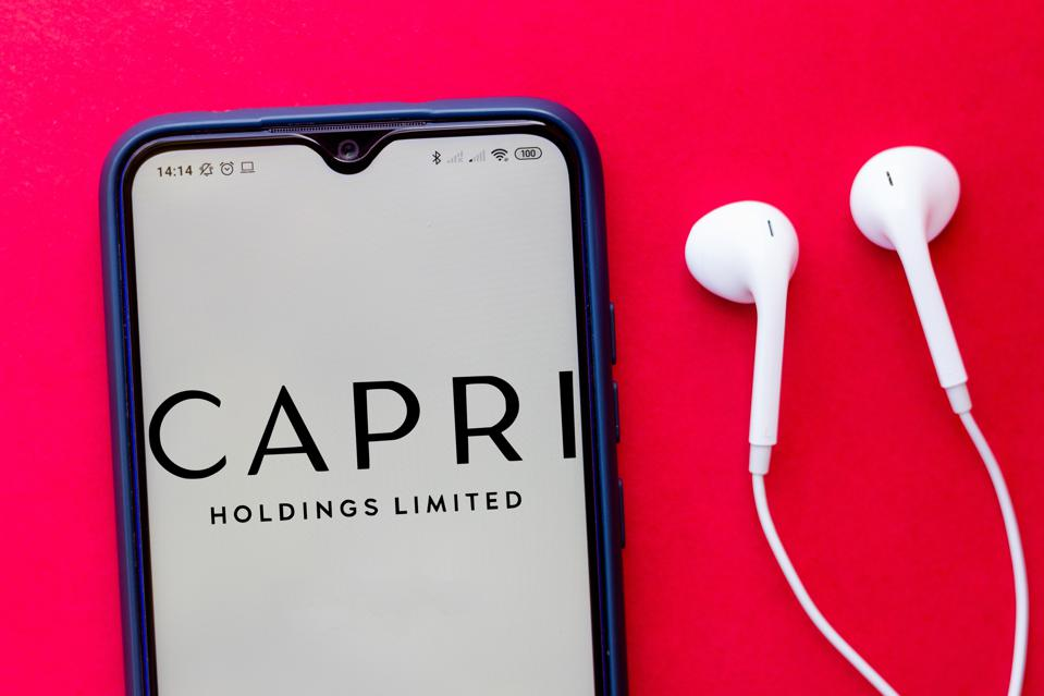 In this photo illustration the Capri Holdings Limited logo...