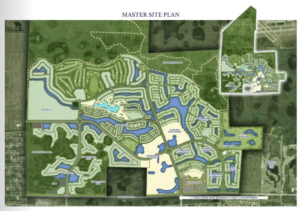 Site plan for Avenir in Palm Beach Gardens