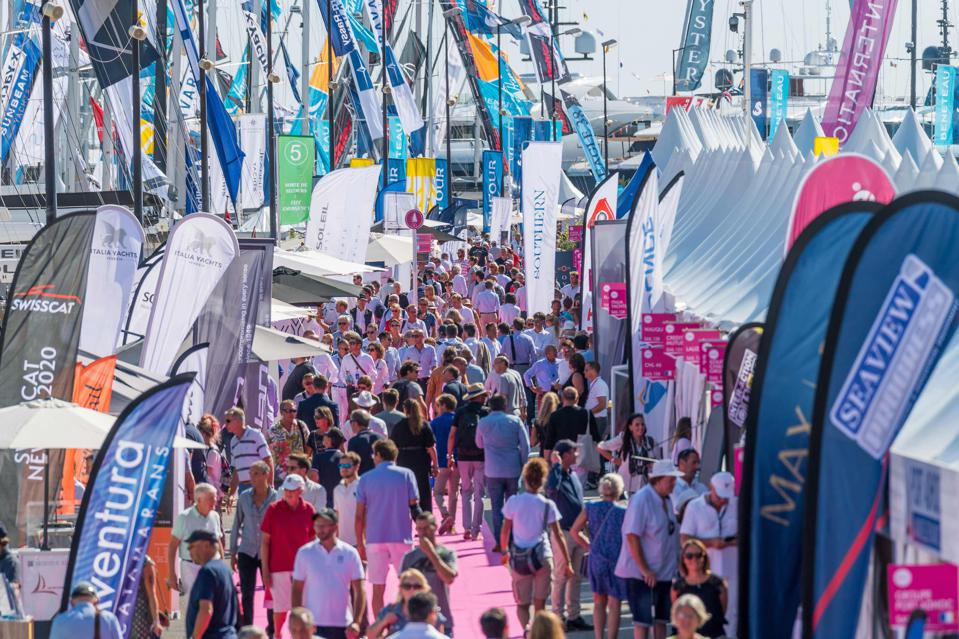 Scenes of overcrowding at the 2019 Cannes Yachting Festival
