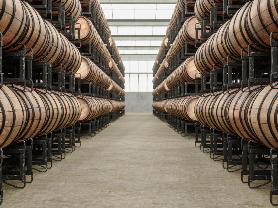Wine Cellar in Warehouse