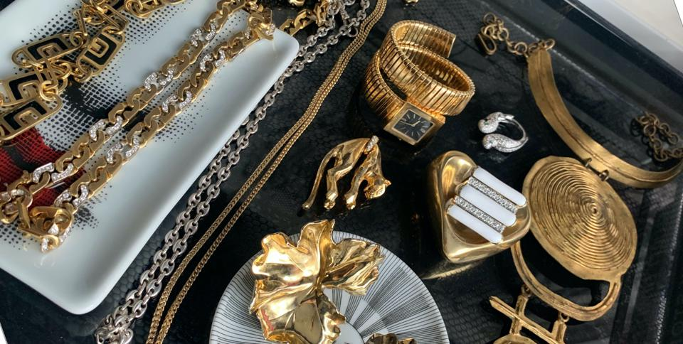 A selection of vintage jewelry from Jill Heller