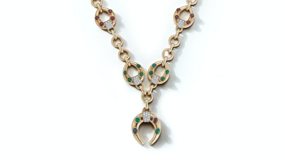 A vintage David Webb Horseshoe necklace
