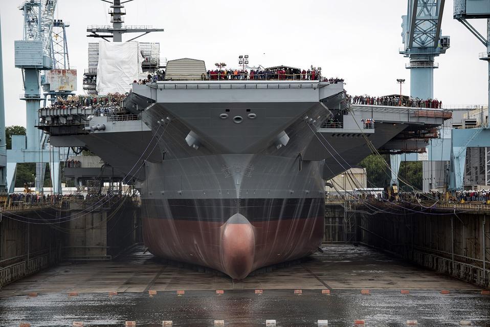 USS Gerald R. Ford, construction, shipyard