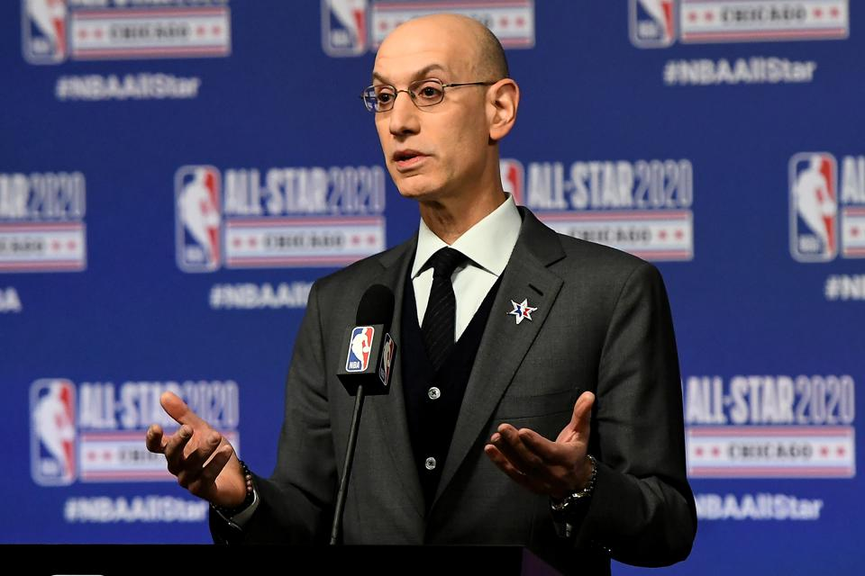 2020 NBA All-Star - NBA Commissioner Adam Silver Press Conference