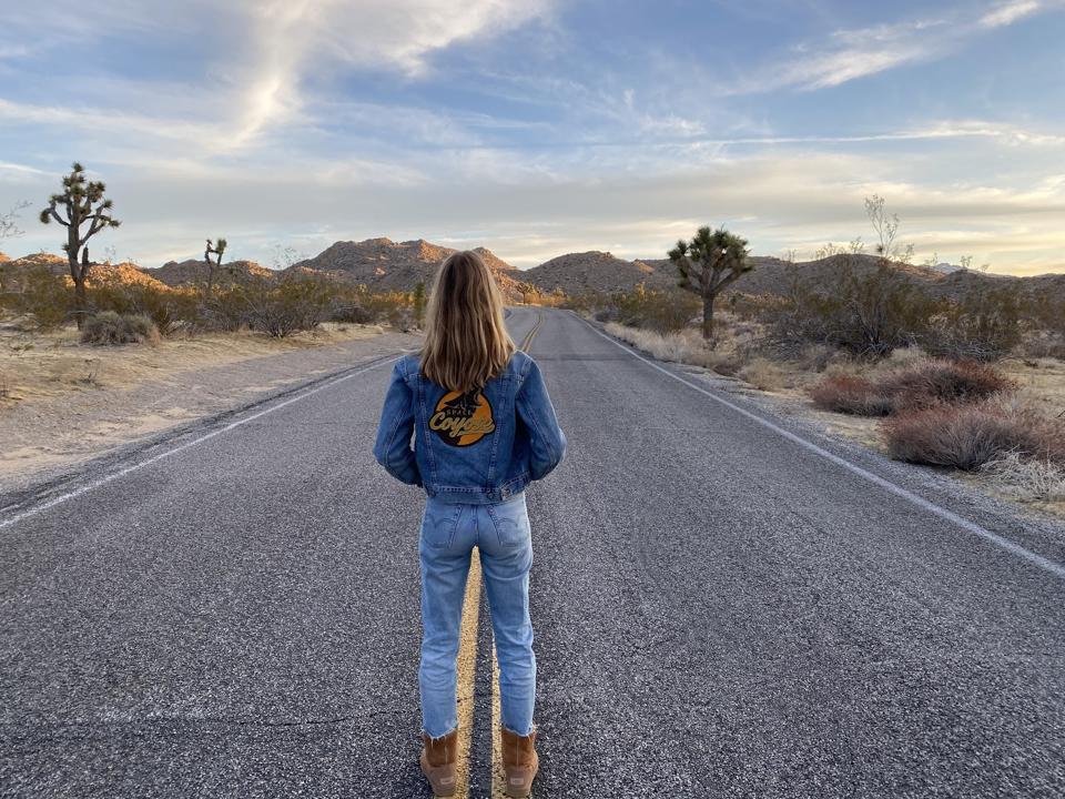A girl in the desert